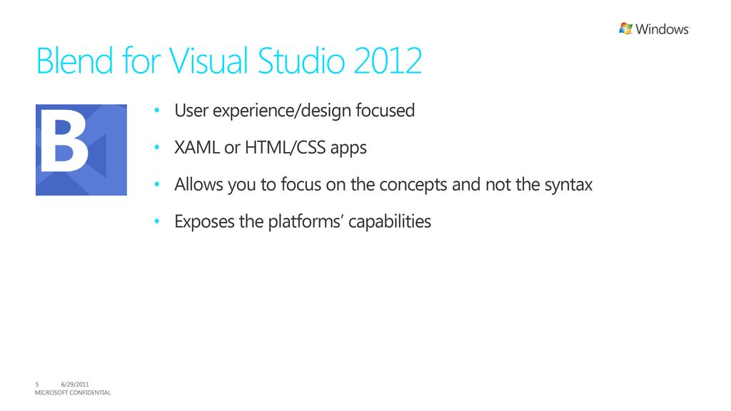 Visual Studio 2012 and Blend - ppt download