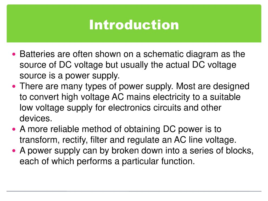 Chapter 6 Voltage Regulator Ppt Download Circuit Diagram Source Introduction Batteries Are Often Shown On A Schematic As The Of Dc But