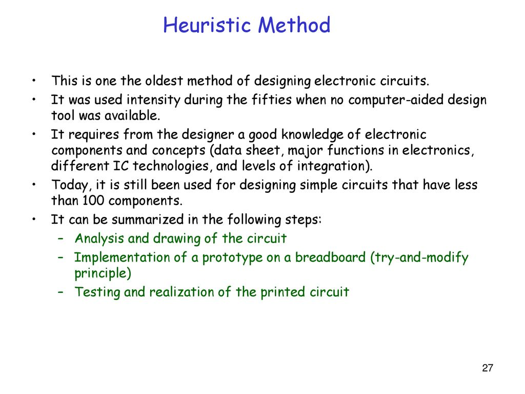 Ee19d Digital Electronics Ppt Download Designing Electronic Circuits Heuristic Method This Is One The Oldest Of