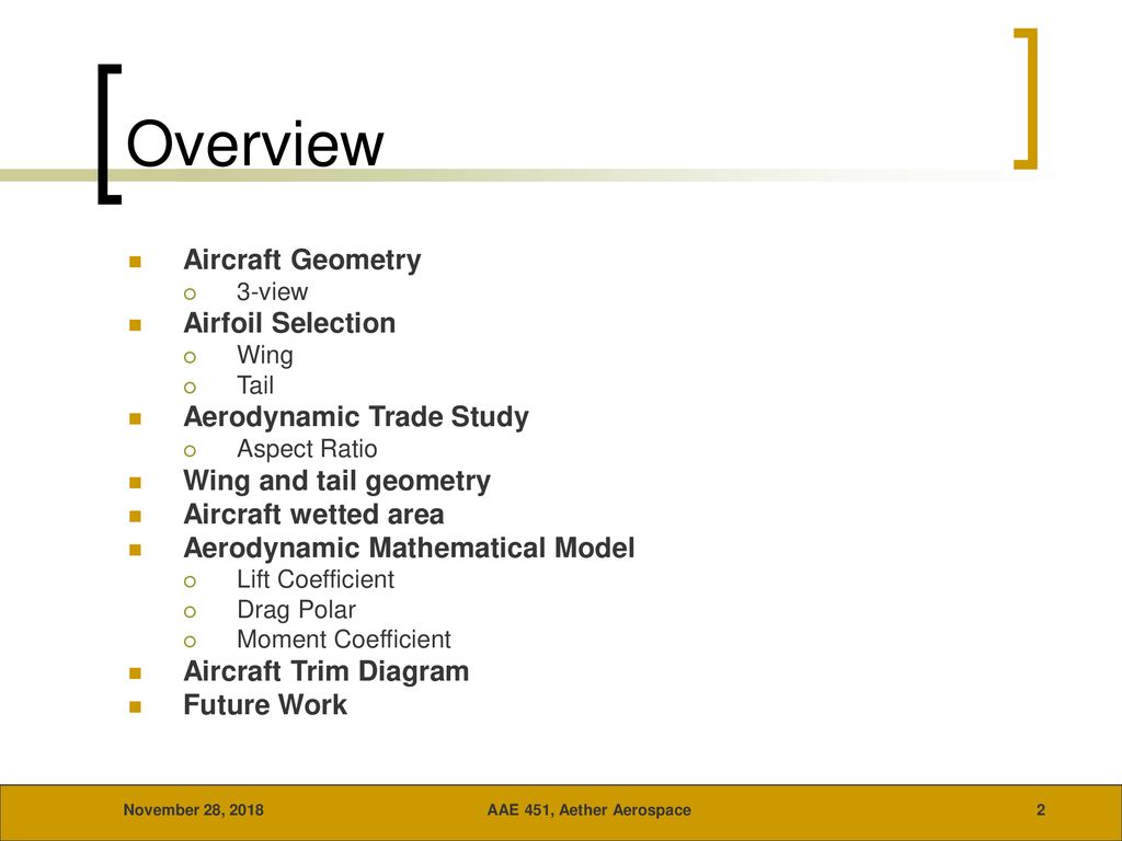 Aether Aerospace AAE 451 September 27, ppt download