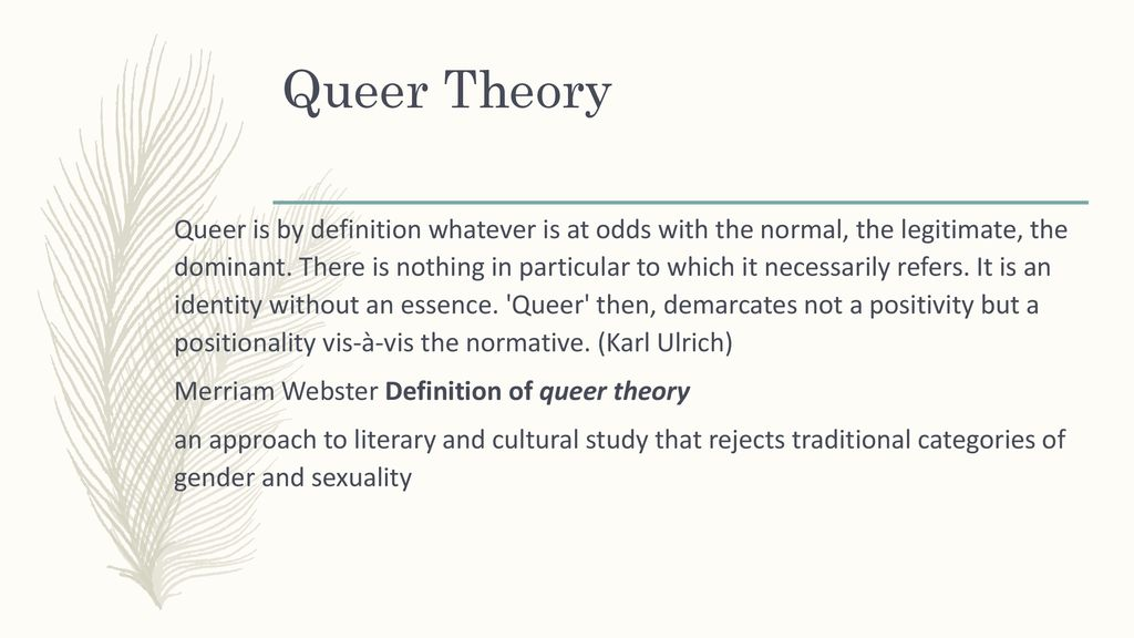 queer definition merriam webster