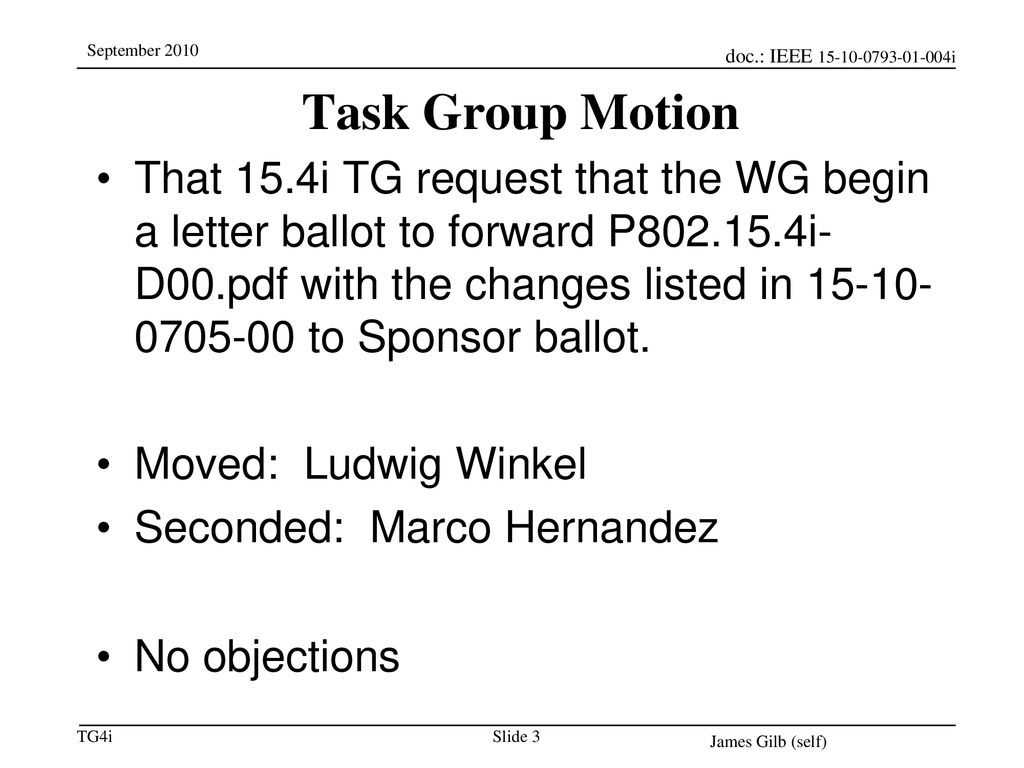 11/28/2018 Task Group Motion.