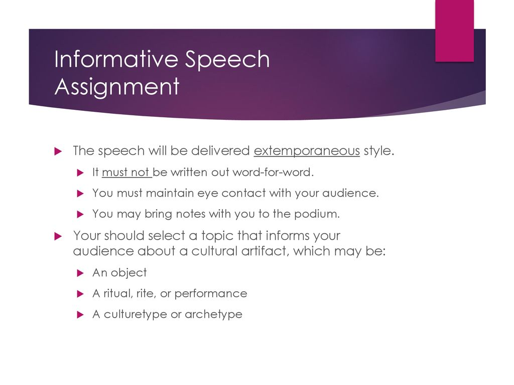 cultural informative speech topics