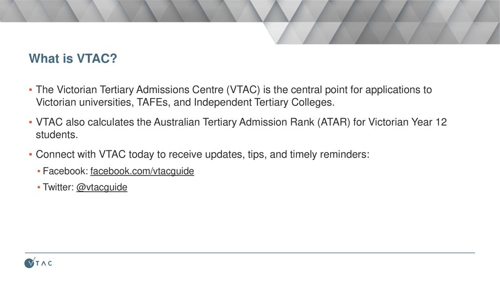 vtac personal statement academic performance