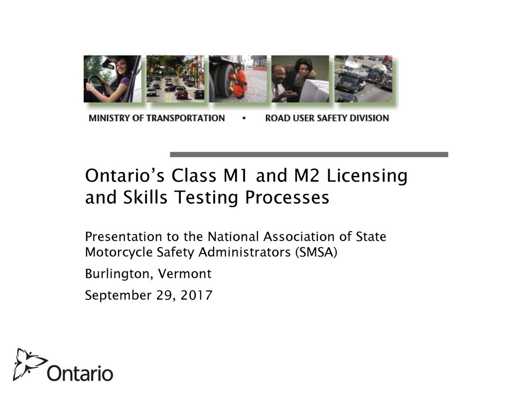 Ontario's Class M1 and M2 Licensing and Skills Testing