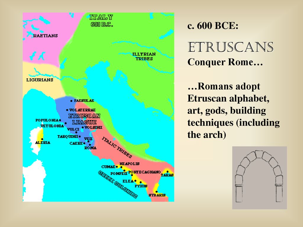 Etruscans conquer latins remarkable, very