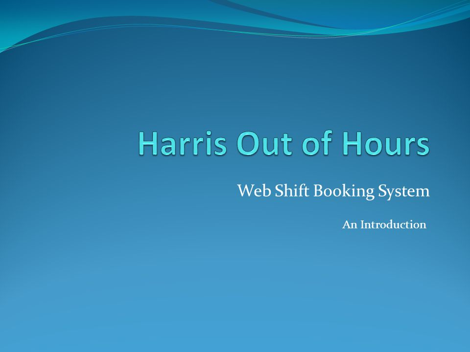 Web Shift Booking System