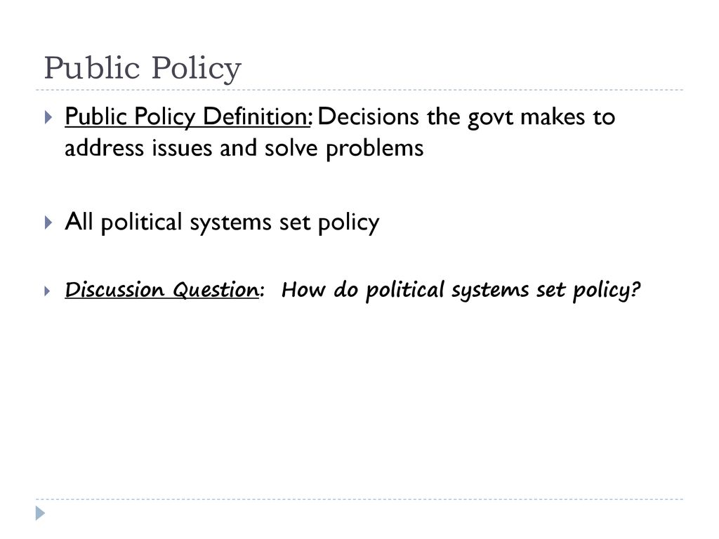 part six: public policy - ppt download