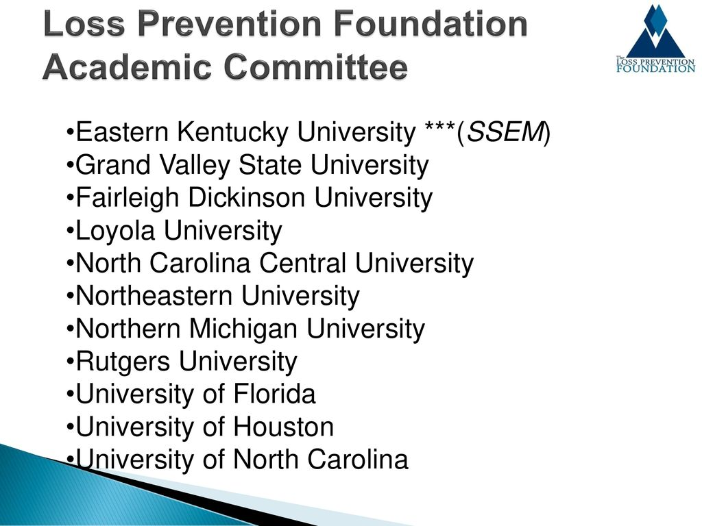 Loss Prevention Education & Certification - ppt download