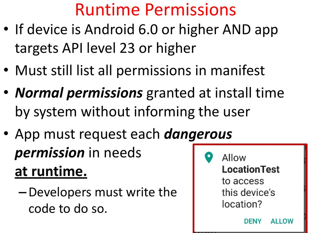 CS371m - Mobile Computing Runtime Permissions  - ppt download