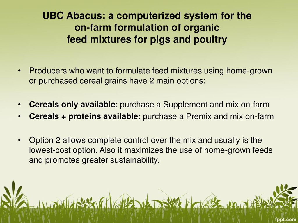 UBC Abacus A software program developed at the University of