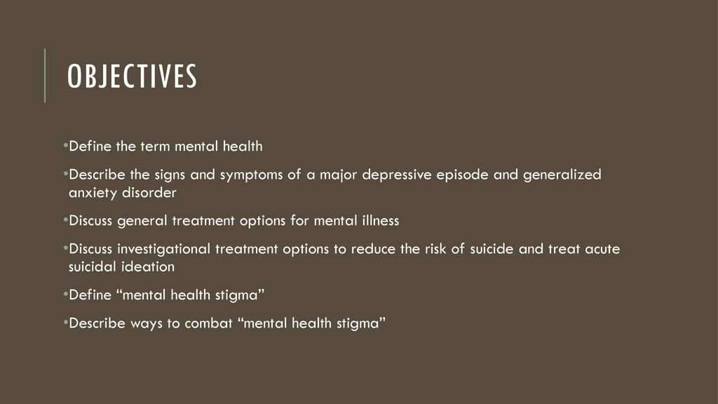 A Discussion On Mental Health Awareness T J Tyndall Pharmd Ppt