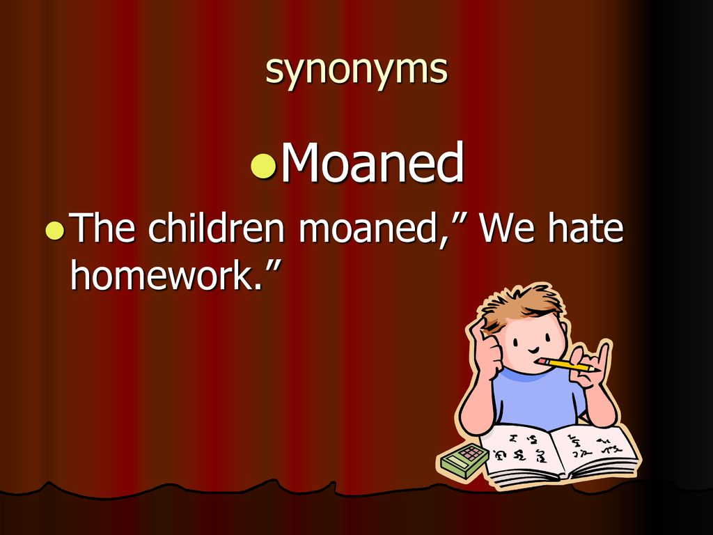 Synonyms Said Ppt Download