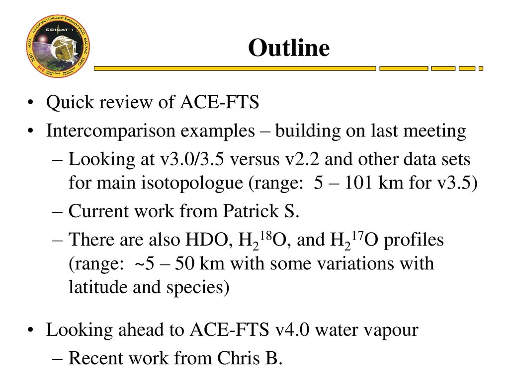 "Brief"" update on ACE water vapour - ppt download"