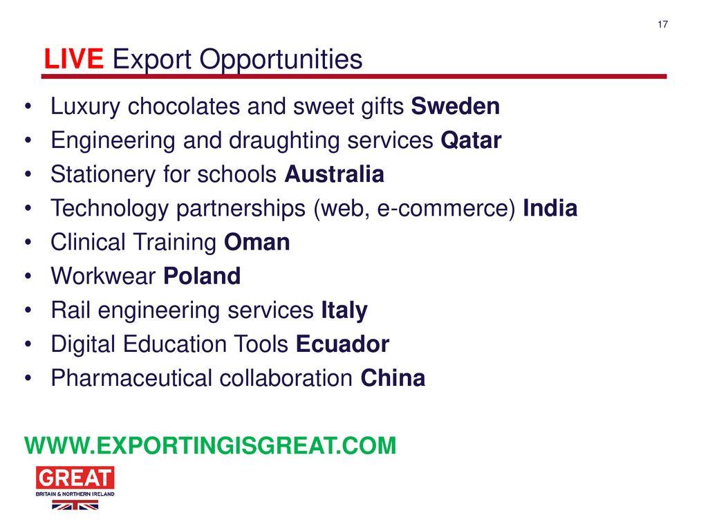 Lead International Trade Adviser DIT North East - ppt download