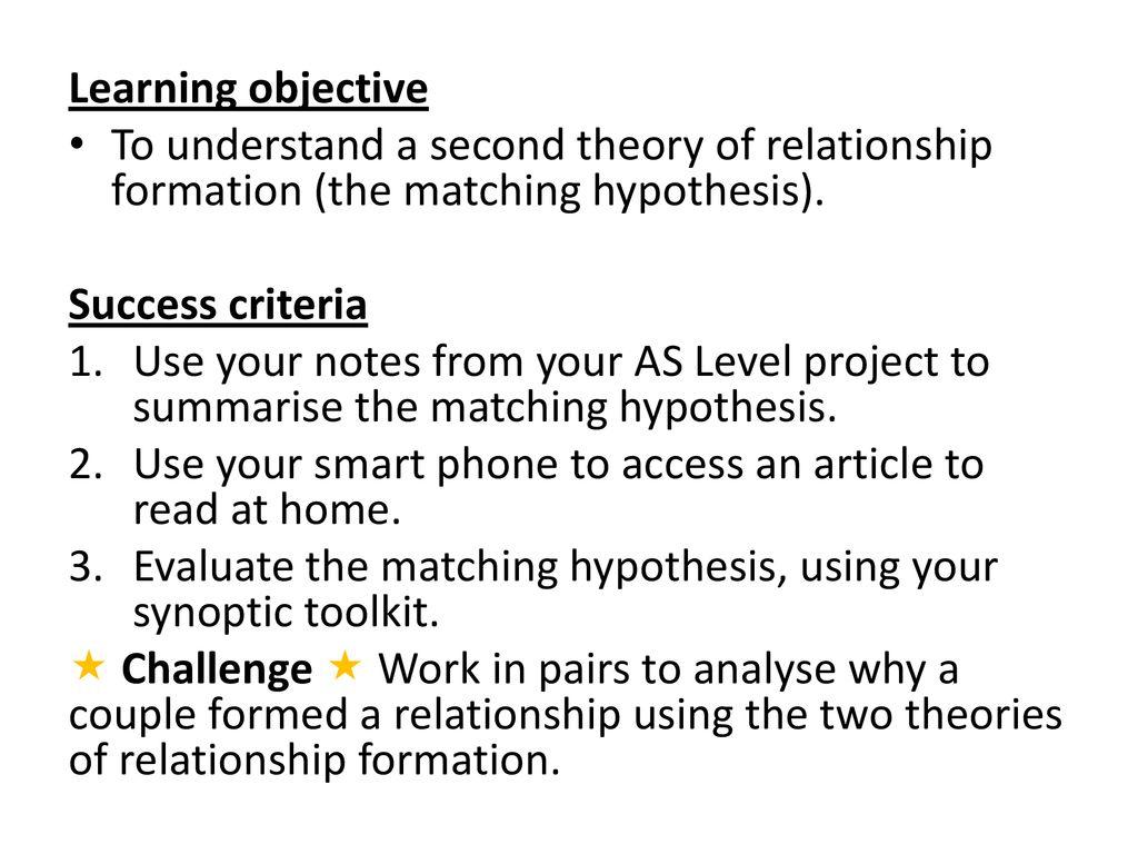 murstein 1972 matching hypothesis