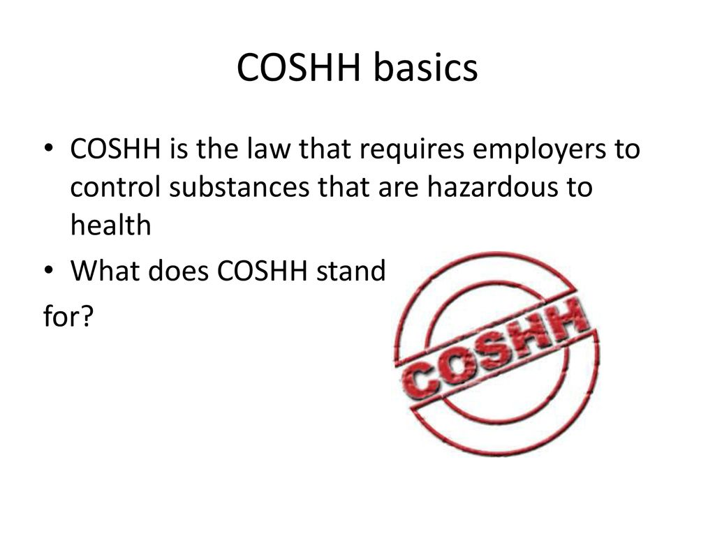 what does coshh stand for