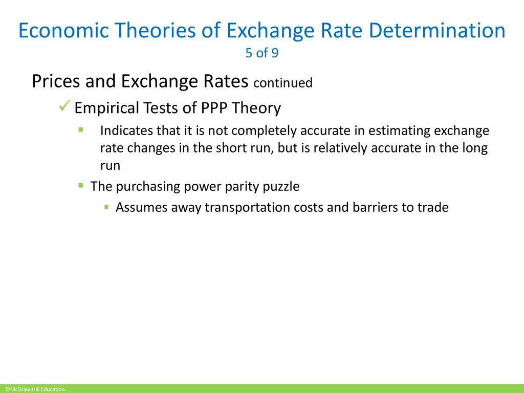 Economic Theories Of Exchange Rate Determination 5 9