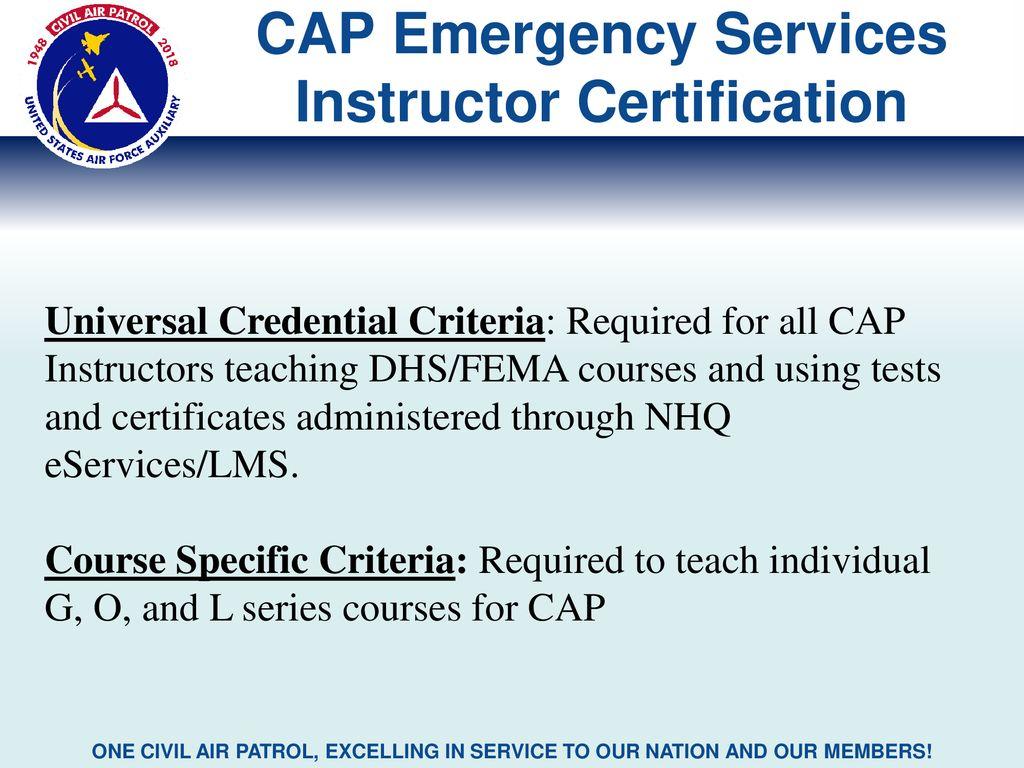 1805cb23777 Civil Air Patrol CAP Emergency Services Professional Development ...