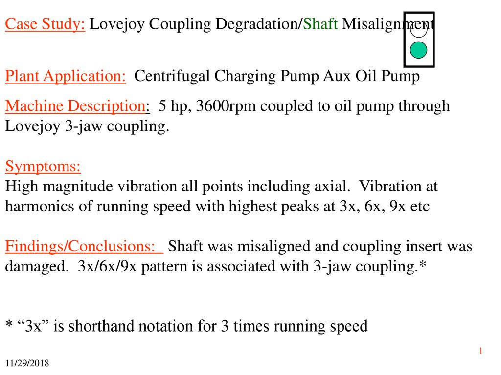 Case Study: Lovejoy Coupling Degradation/Shaft Misalignment