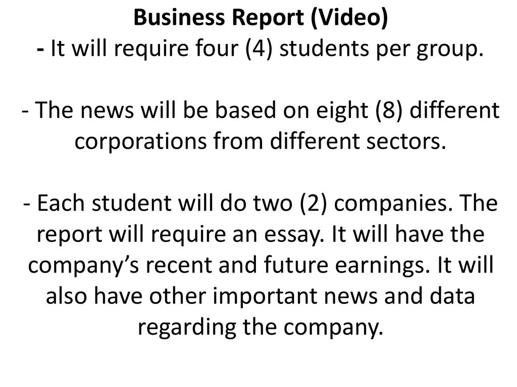 NEWS BROADCAST PROJECT BUSINESS REPORT - ppt download