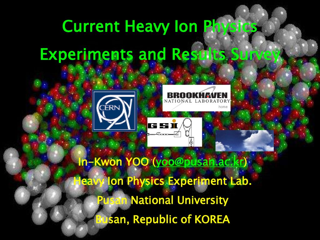 Current Heavy Ion Physics Experiments and Results Survey - ppt download