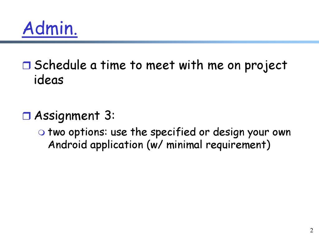 Mobile Software Development Framework: Android - ppt download
