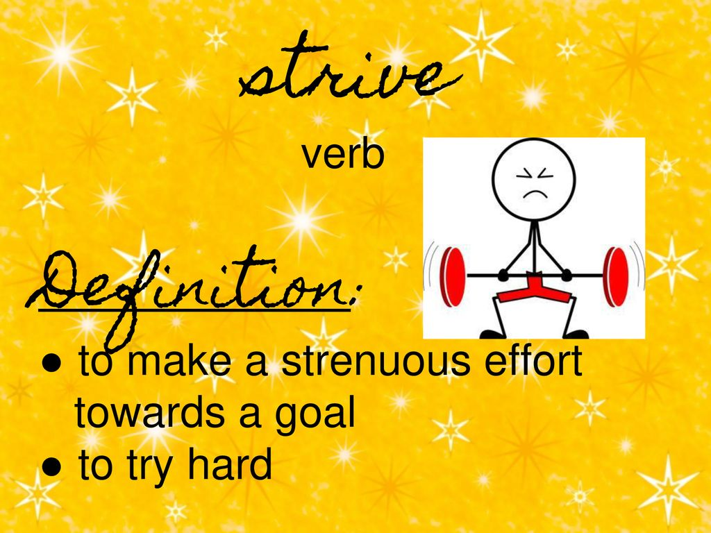 The Word Of The Week Strive Ppt Download