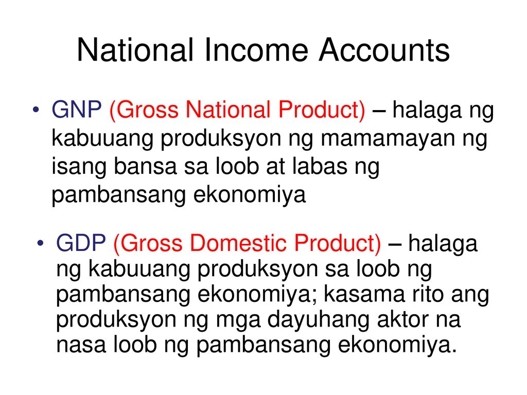 National Income Accounts