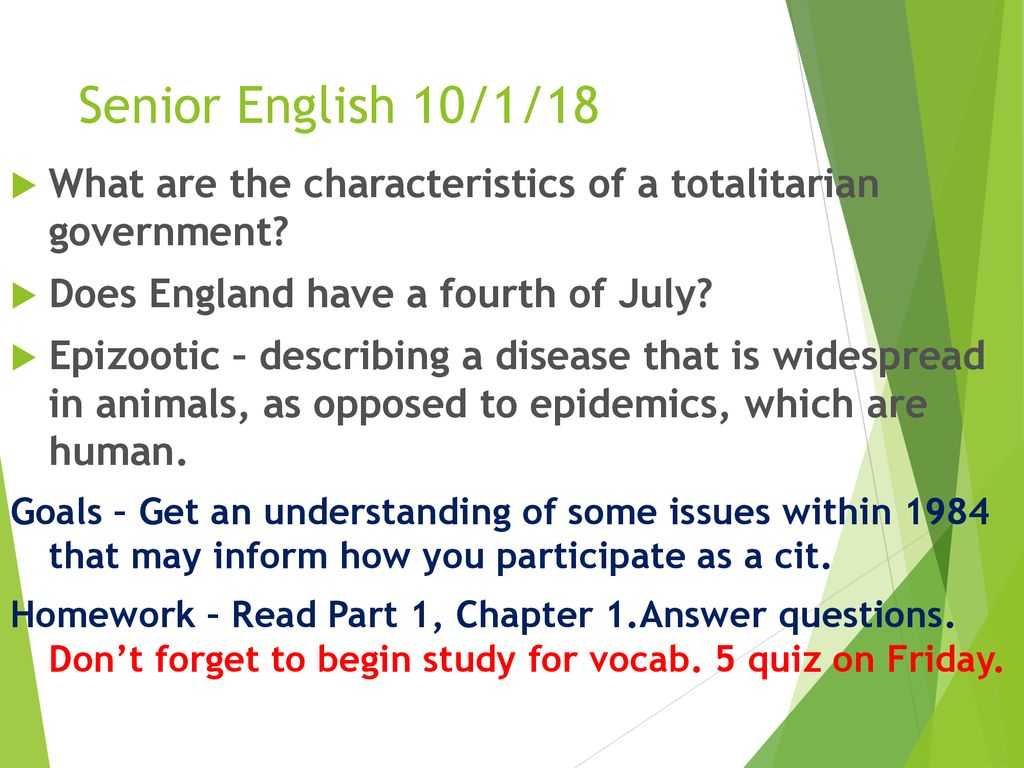 Senior English 10118 What Are The Characteristics Of A