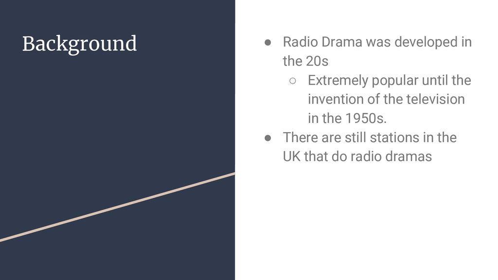 Radio Drama  - ppt download