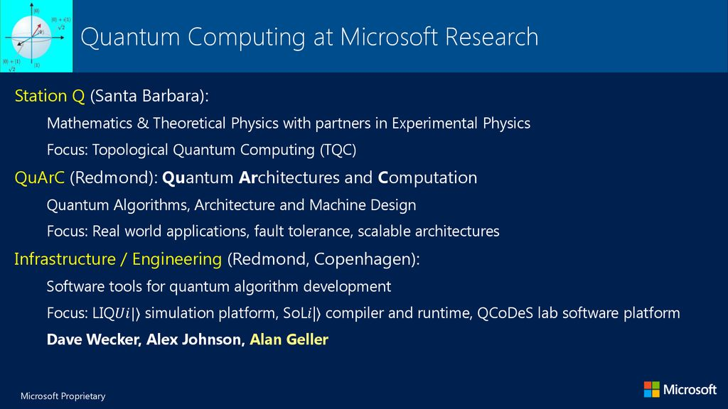 Software Tool Chains for Quantum Computing - ppt download