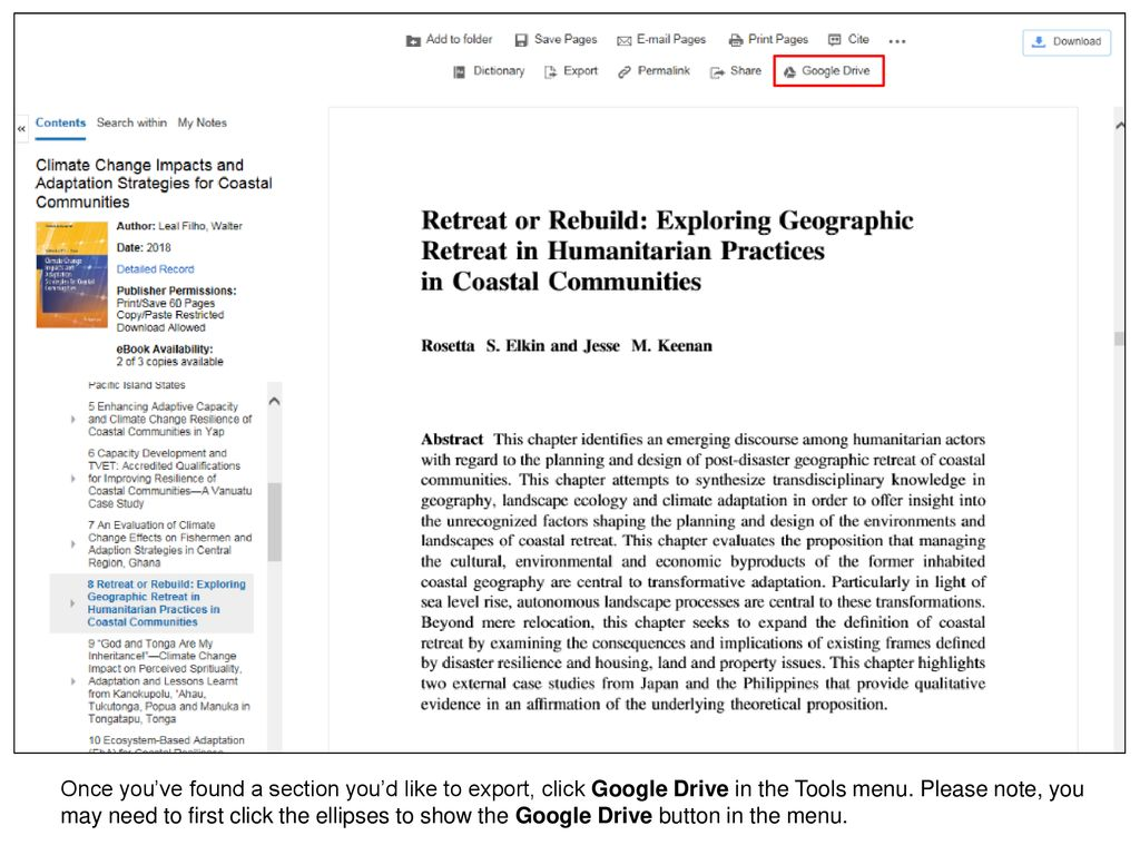 Exporting EBSCO eBooks pages to Google Drive - ppt download