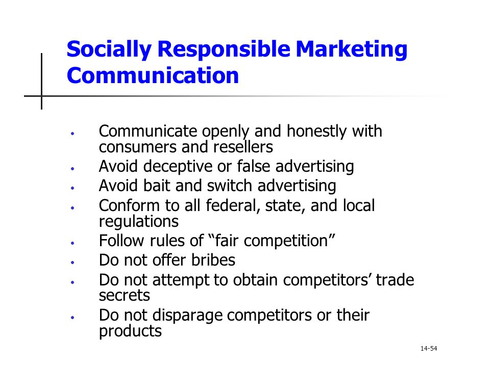 Socially Responsible Marketing Communication