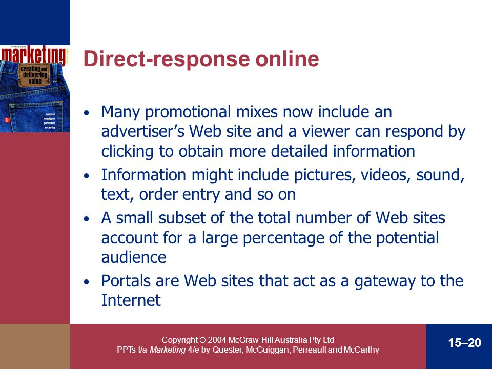 Direct-response online