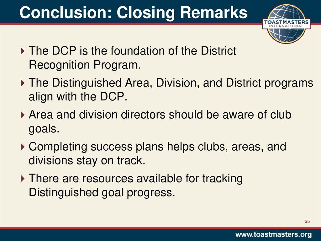 closing remarks for recognition program