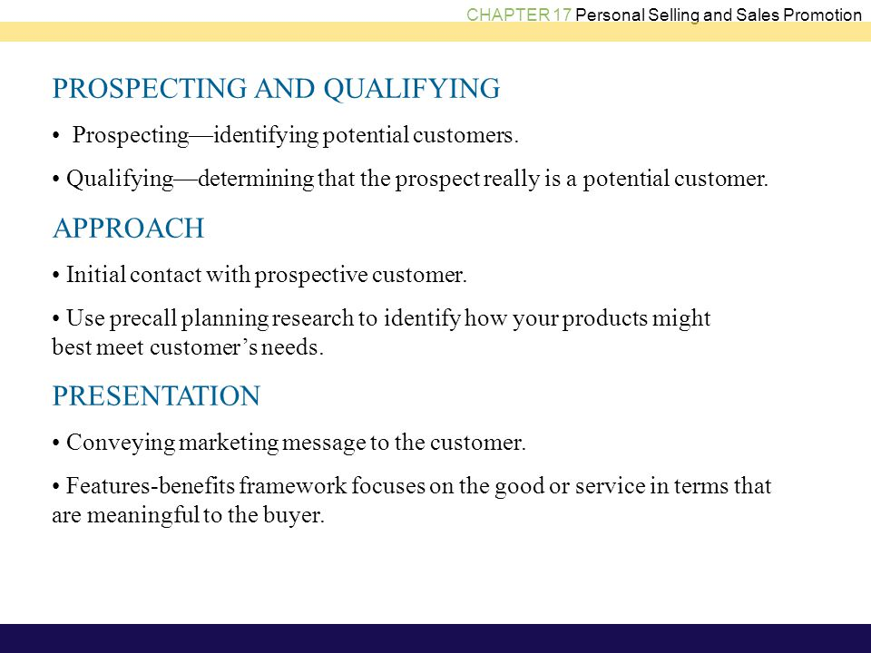 features of sales promotion
