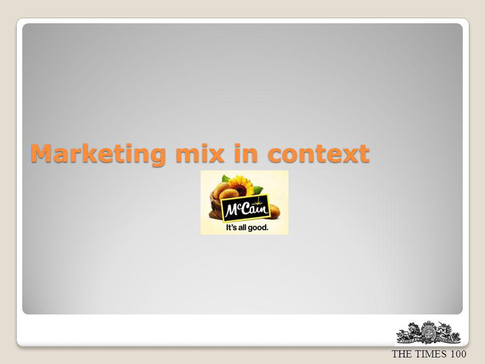 Marketing mix in context
