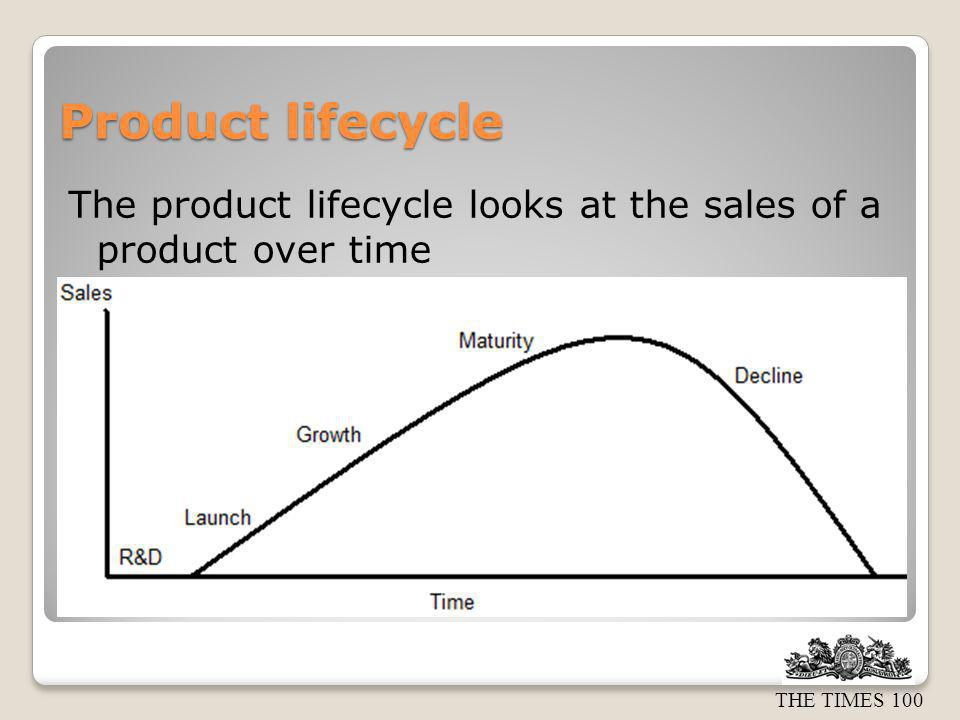 Product lifecycle The product lifecycle looks at the sales of a product over time