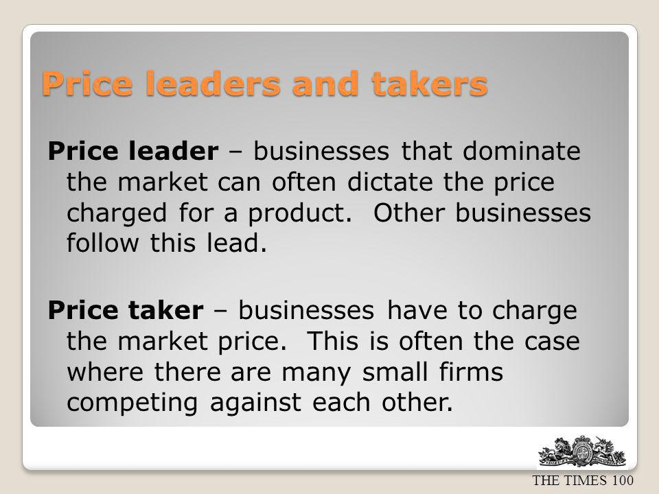 Price leaders and takers