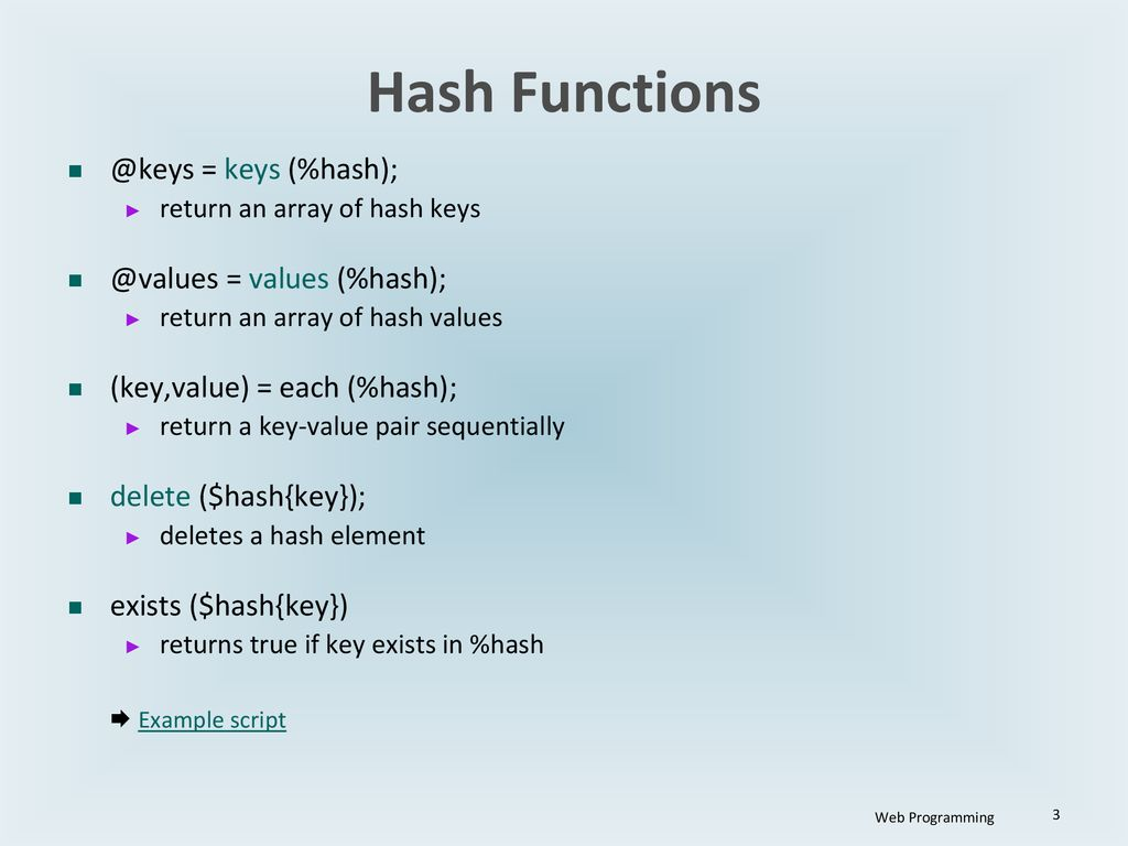 Perl Variables: Hash Web Programming  - ppt download