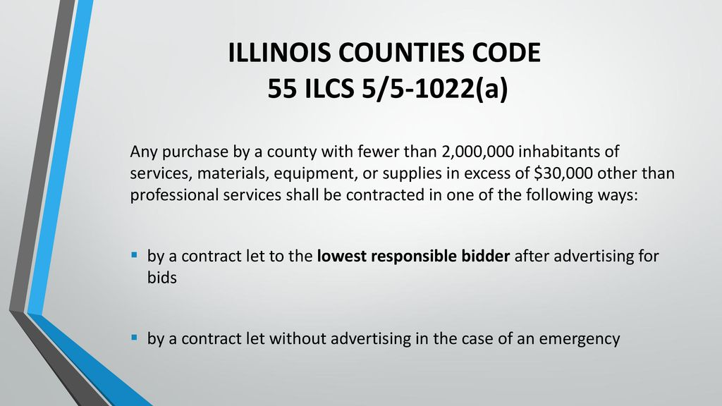 ILLINOIS COUNTIES CODE 55 ILCS 5 1022a