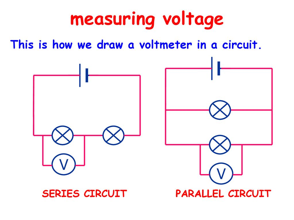 Electrical Circuits All You Need To Be An Inventor Is A Good Series Circuit And Parallel Measuring Voltage V This How We Draw Voltmeter In