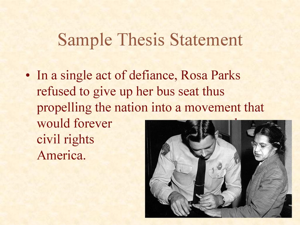 good thesis statements about rosa parks