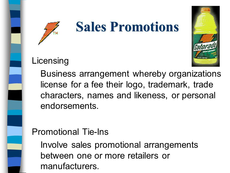Sales Promotions Licensing