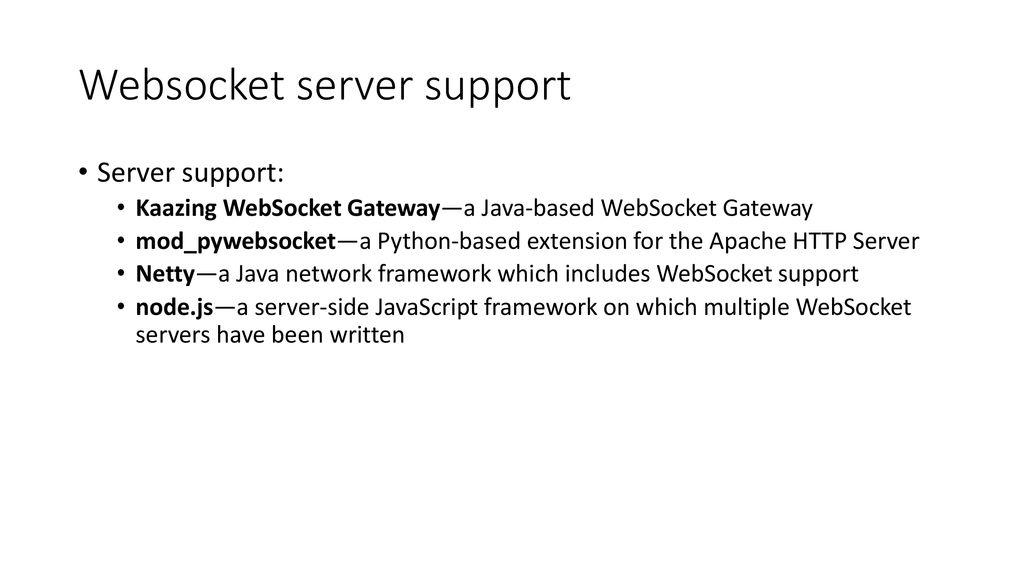 WebSocket 101 Shuai Zhao  - ppt download