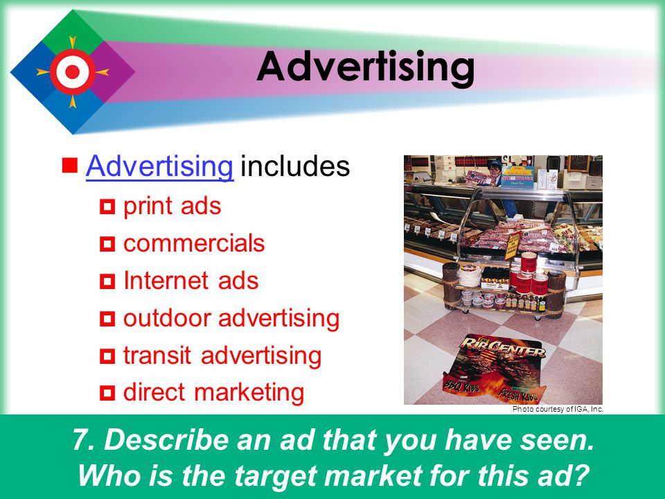 Advertising Advertising includes
