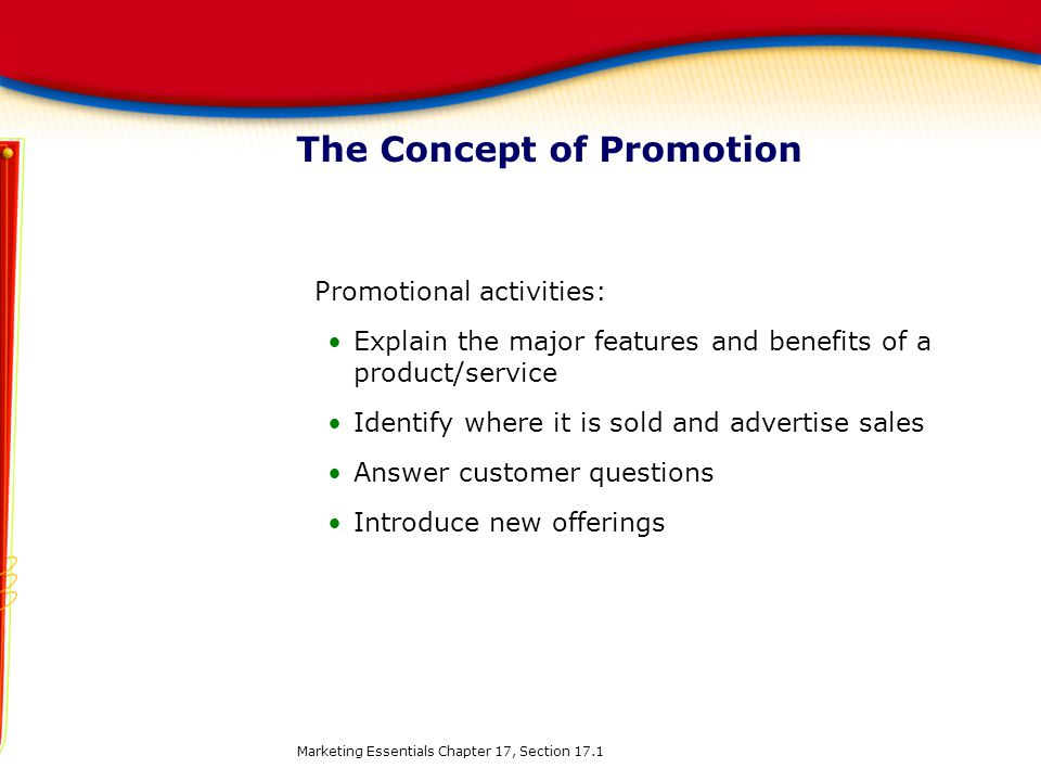 The Concept of Promotion