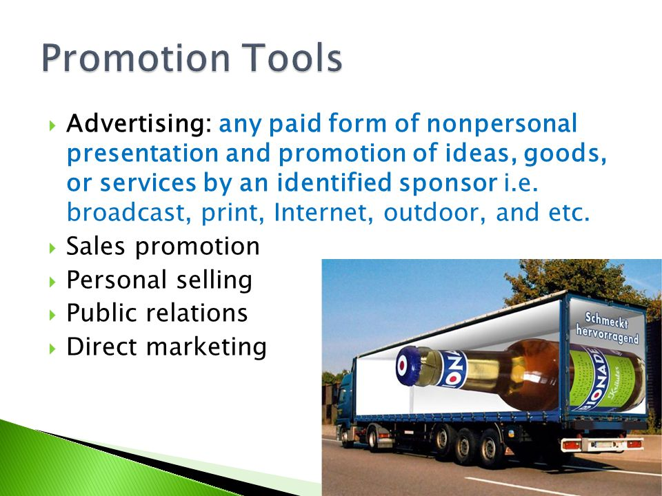 Promotion Tools