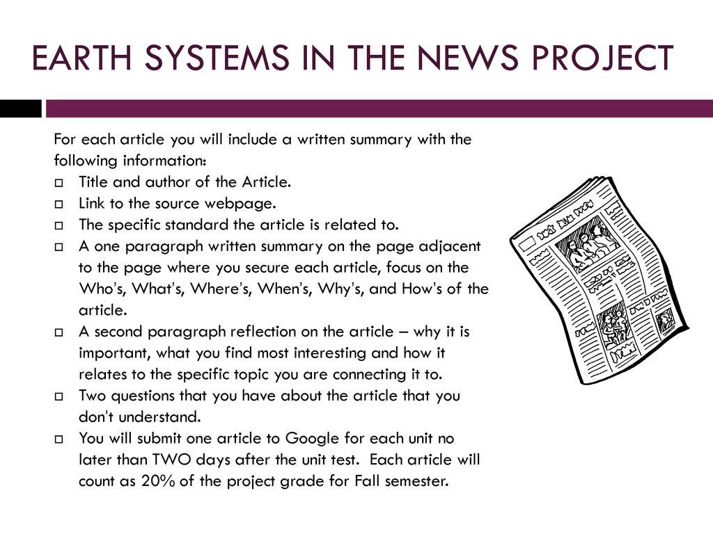 earth systems syllabus georgia